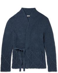Eidos ribbed knit cotton wrap cardigan medium 1343159
