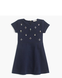 J.Crew Girls Stone Cluster Swingy Knit Dress