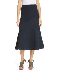 Navy Knit Midi Skirt