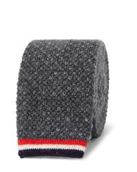 5cm knitted cashmere tie medium 594205