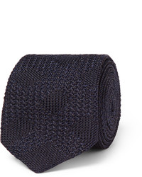 Burberry London Checked Knitted Silk Tie