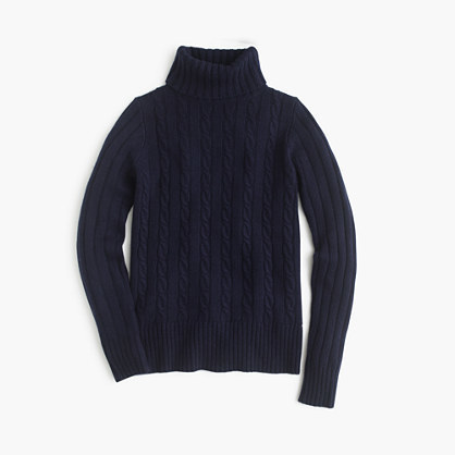 J.Crew Cambridge Cable Chunky Turtleneck Sweater | Where to buy ...