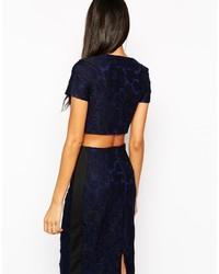 224e988a40d24c Lipsy Allover Lace Crop Top, £13 | Asos | Lookastic UK
