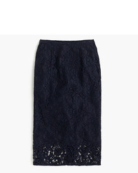 J.Crew Floral Lace Pencil Skirt