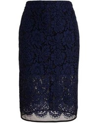MSGM Floral Lace Pencil Skirt