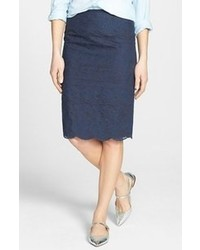 Tory Burch Lace Embroidered Pencil Skirt