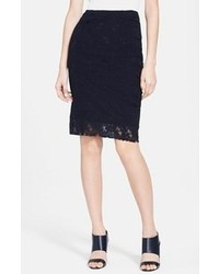 Nina Ricci Lace Pencil Skirt