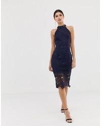 Girl In Mind Lace Midi Dress
