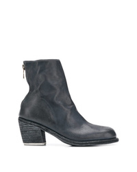 Guidi Rear Zip Ankle Boots