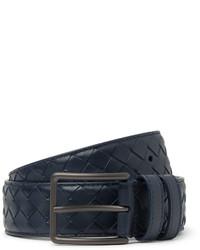 35cm blue intrecciato leather belt medium 655352
