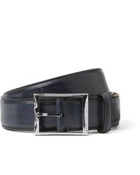Berluti 35cm Blue Leather Belt