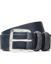 Paul Smith 3cm Navy Leather Belt