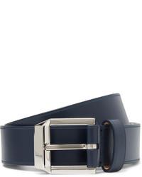 Givenchy 4cm Navy Leather Belt
