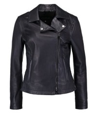 Leather jacket dark blue medium 3993093