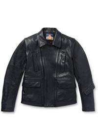 Blackmeans Slim Fit Leather Biker Jacket