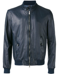 Jacob Cohen Leather Bomber Jacket