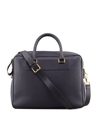 Tom Ford Leather Zip Briefcase Blue