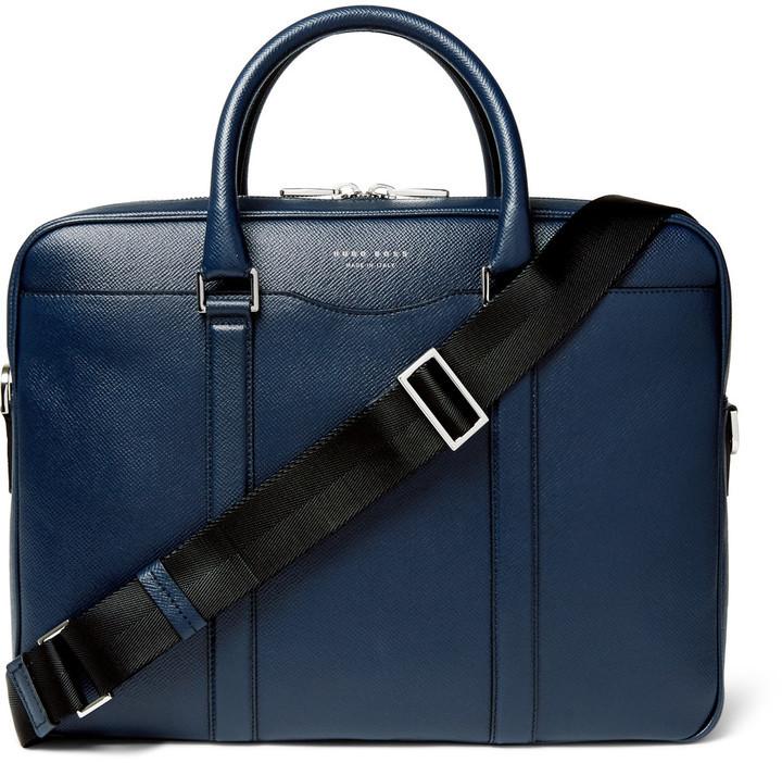... Hugo Boss Signature Slim Grained Leather Briefcase ... 5f465d23c6f8c