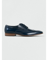 Navy Leather Brogues
