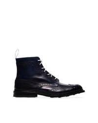 Trickers Blue Stow Leather Country Boots