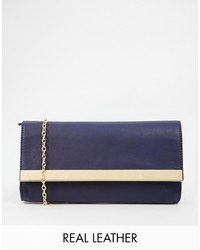 Selected Sfterna Leather Crossbody Bag With Chain Strap And Bar Detail