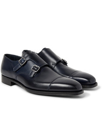 George Cleverley Thomas Cap Toe Leather Monk Strap Shoes