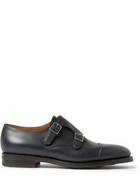 John Lobb William Ii Full Grain Leather Monk Strap Shoes