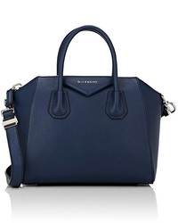 Navy Leather Duffle Bag
