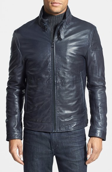 código promocional b1082 5427f £726, Hugo Boss Boss Gatello Embossed Leather Jacket
