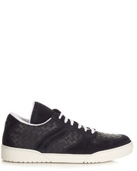 Intrecciato low top leather trainers medium 721849
