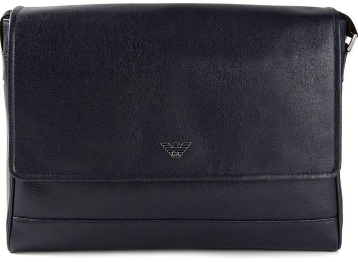 2bd4ae0e72d7 ... Emporio Armani Foldover Top Messenger Bag