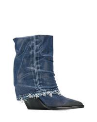 Diesel Denim Cowboy Boots