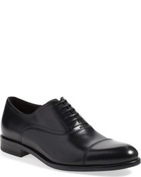 Navy Leather Oxford Shoes
