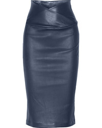 Zero Maria Cornejo Zeromariacornejo Nebi Leather Pencil Skirt