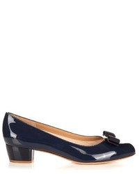 Salvatore Ferragamo Vara C Patent Leather Pumps
