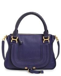 Chloe medium marcie leather satchel white medium 369454