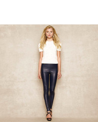 Ralph Lauren Blue Label Skinny Stretch Leather Pant