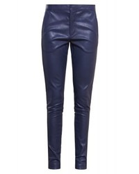 DAY Leah Leather Trousers Navy Blazer