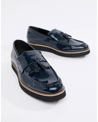 Truffle Collection Patent Tassel Loafers