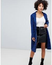 Missguided Slim Coat In Leopard Print
