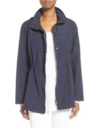 Eileen Fisher Organic Cotton Nylon Hooded Jacket