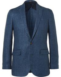 Polo Ralph Lauren Blue Morgan Linen Blazer