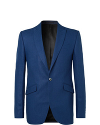 Favourbrook Navy Slim Fit Linen Suit Jacket