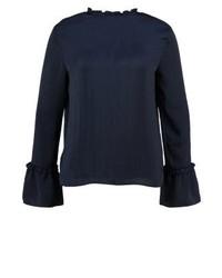 Topshop Blouse Navy Blue
