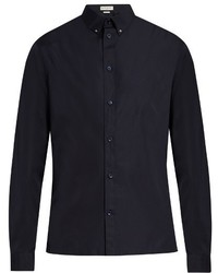 Balenciaga Button Down Collar Cotton Poplin Shirt