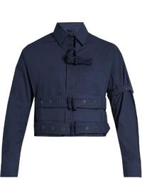 Craig Green Cropped Long Sleeved Cotton Poplin Shirt