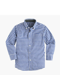 J.Crew Kids Secret Wash Shirt In Gingham