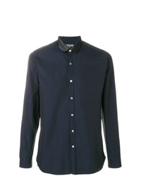 Lanvin Satin Collar Button Shirt