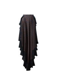Lanvin Ruffled Pattern Skirt