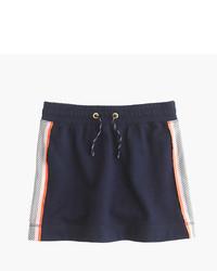 Navy Mesh Skirt